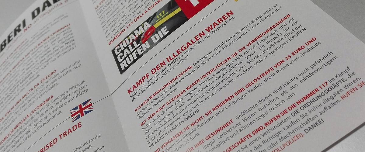 Liberi dall'Abusivismo: Leaflet close up